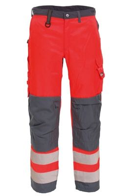 Tranemo 4829 CE-ME Ladies Trousers (High Vis Red/Grey)