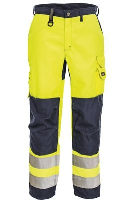 Tranemo 4829 CE-ME Ladies Trousers (High Vis Yellow/Navy)