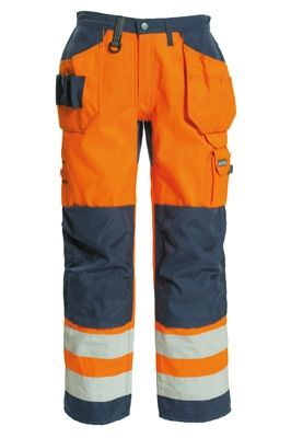Tranemo 4859 CE-ME Ladies Craftsman Trousers (High Vis Orange/Navy)