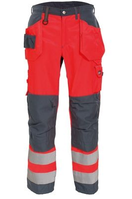 Tranemo 4859 CE-ME Ladies Craftsman Trousers (High Vis Red/Grey)