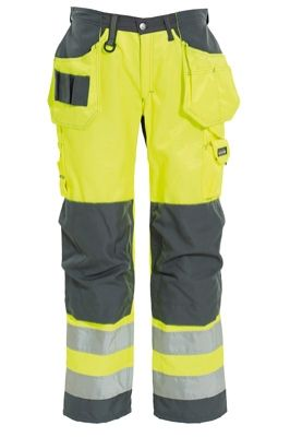 Tranemo 4859 CE-ME Ladies Craftsman Trousers (High Vis Yellow/Grey)