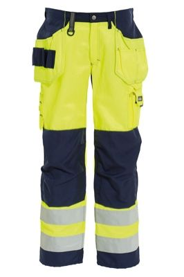 Tranemo 4859 CE-ME Ladies Craftsman Trousers (High Vis Yellow/Navy)