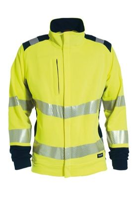 Tranemo 5039 Ladies weatshirt Jacket (High Vis Yellow/Navy)
