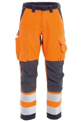 Tranemo 5228 Zenith Ladies Windbreaker Trousers (High Vis Orange/Navy)
