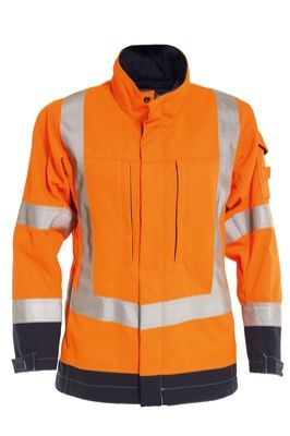 Tranemo 5238 Zenith Ladies Jacket (High Vis Orange/Navy)