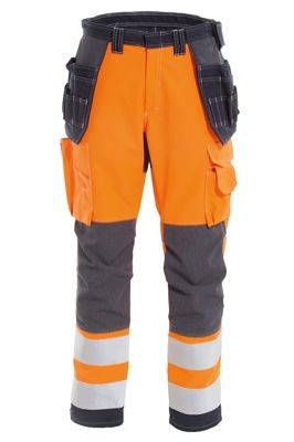 Tranemo 5258 Zenith Ladies Craftsman Trousers (High Vis Orange/Navy)
