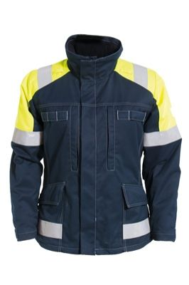 Tranemo 5709 Cantex 57 Ladies Winter Jacket (Navy/High Vis Yellow)