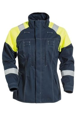 Tranemo 5739 Cantex 57 Ladies Jacket (Navy/High Vis Yellow)