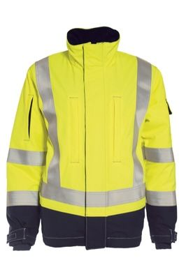 Tranemo 5803 Tera TX Ladies Winter Jacket (High Vis Yellow/Navy)