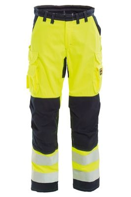 Tranemo 5829 Tera TX Ladies Trousers (Navy/High Vis Yellow)