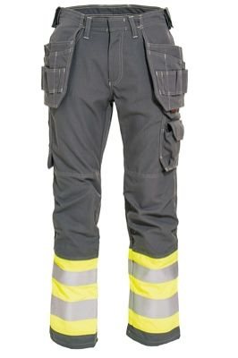 Tranemo 5858 Tera TX Ladies Craftsman Trousers (Grey/High Vis Yellow)
