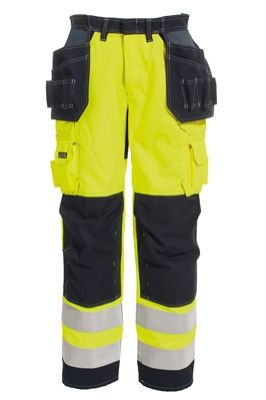 Tranemo 5859 Tera TX Ladies Craftsman Trousers (Navy/High Vis Yellow)