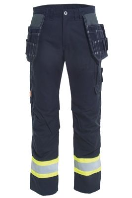 Tranemo 6058 Tera TX NM Ladies Trousers (Navy/High Vis Yellow)