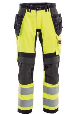 Tranemo 6327 Stretch FR Ladies Craftsman Trousers (Navy/High Vis Yellow)