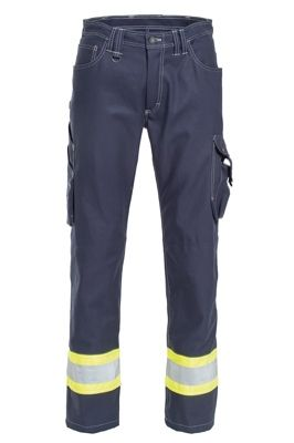 Tranemo 7728 Craftsman Pro Ladies Trousers (Navy/High Vis Yellow)